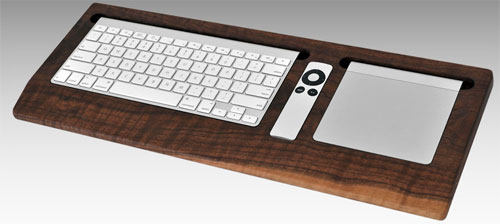 Combine Collective offers wooden keyboard trays for Mac heads