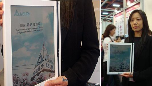 Delta Vivitek 8.2-inch color eReader with China Mobile 3G tipped for Dec 2010