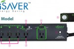 HiSaver power strip uses motion to cut power to peripherals when you leave