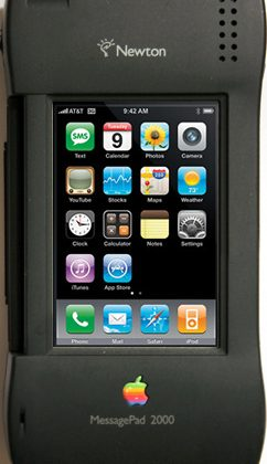 iNewt case slots iPhone 4 into Newton MessagePad