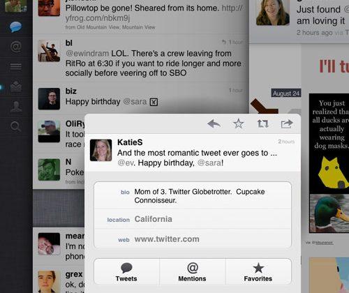Twitter lands on iPad