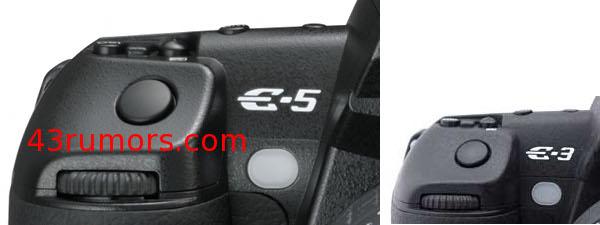 Olympus E-5 Micro Four Thirds shows a shoulder & some specs