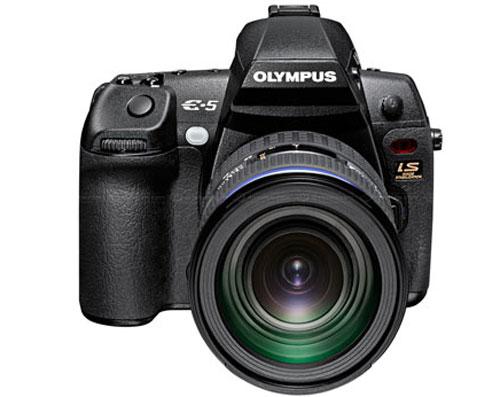 Olympus debuts splashproof pro E-5 DSLR camera