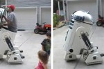 Geek makes awesome R2D2 that he can ride inside