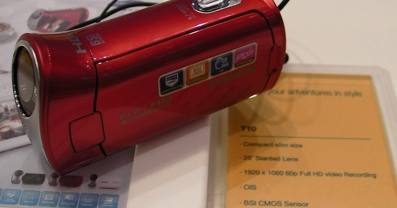 Samsung HMX-T10 camcorder hands-on