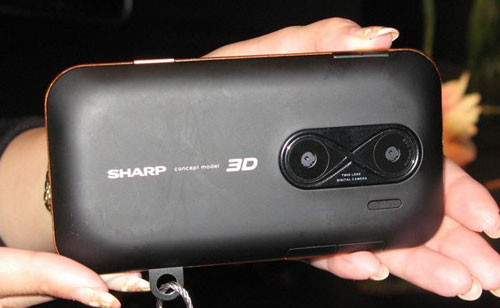 Sharp shows off parallax barrier display in smartphone-like device at IFA