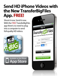 TransferBigFiles offers free iPhone app for doing what the name says