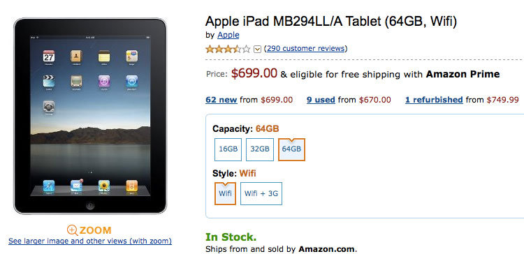 iPad Now Available in Target Stores, and Amazon Directly