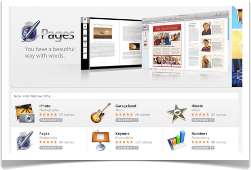 Apple Mac App Store to Sell iWork & iLife 11 Applications Separately