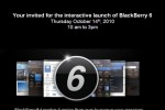 BlackBerry 6 Invite for October 14: Will you attend?