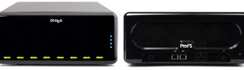 DroboPro FS puts 16TB of self-healing backup onto your network