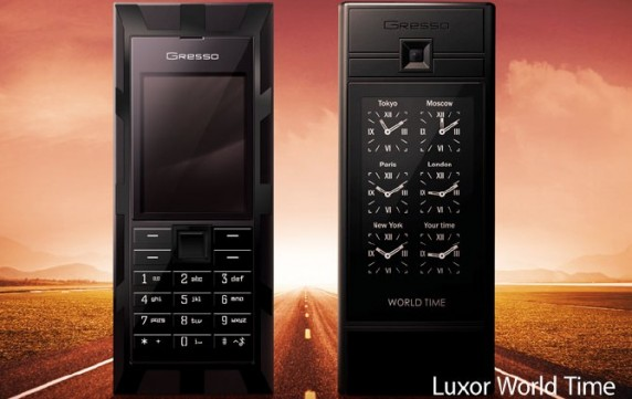 Gresso Luxor World Time Phone Puts Sapphire Crystals and World Clocks in Your Hand