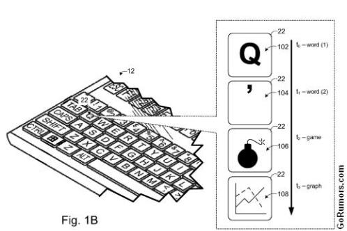 Microsoft Aims for Dynamic Keyboard Patent