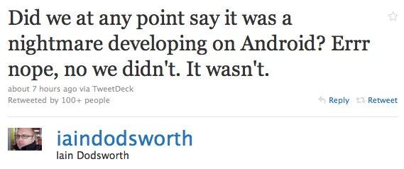 Android no nightmare says TweetDeck CEO to Steve Jobs