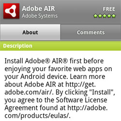 Adobe AIR for Android arrives in Android Market