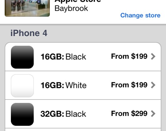 White iPhone 4 reservations hit updated Apple Store app