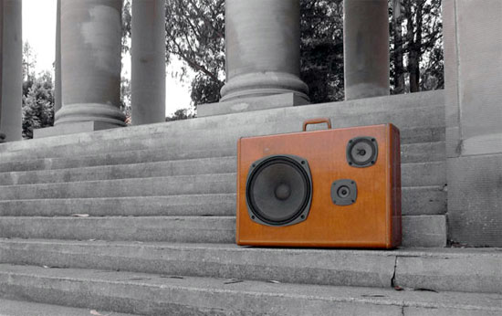 Boom Case, Speakers Trapped in Suitcase