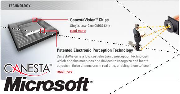 Microsoft Purchasing Chip Company Canesta