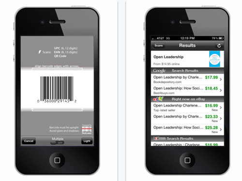scan app for iphone ebay adds qr code scanning to redlaser barcode scanning 2898