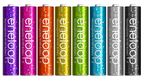 Sanyo eneloop batteries get flashy for fifth birthday
