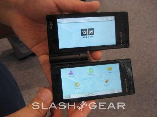 Fujitsu Dual-Display phone prototype video demo