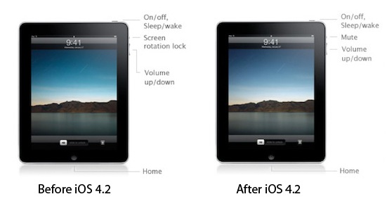iPad orientation lock switch forever gone post-iOS 4.2 says Steve Jobs