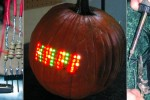 Pumpkin Carving with a 70 LED Matrix