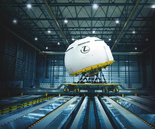 Lexus builds world's most advanced driving simulator
