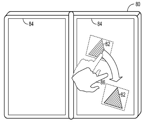 Microsoft Courier-style pen & touch patent application filed