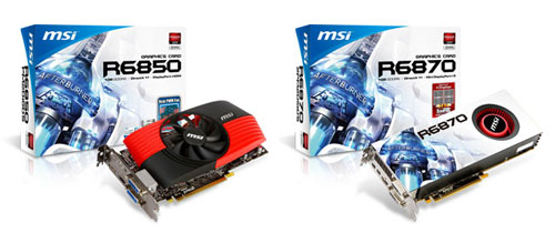 MSI debuts AMD R6850 and R6870 video cards