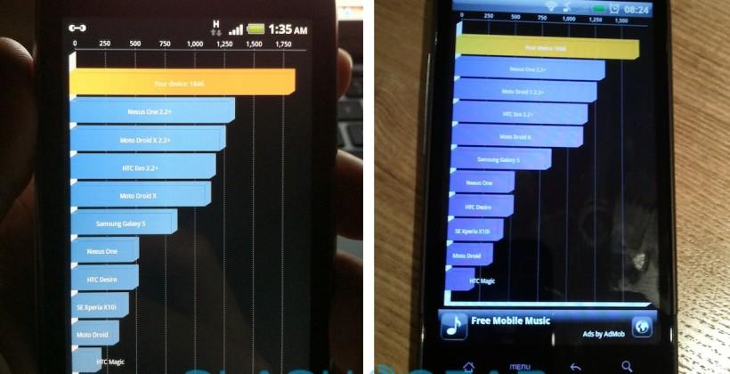 myTouch 4G vs Desire HD benchmarks