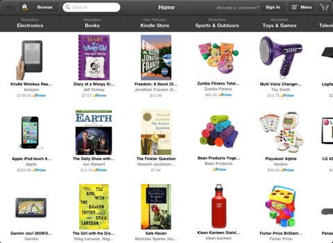 Amazon Windowshop for iPad hits App Store
