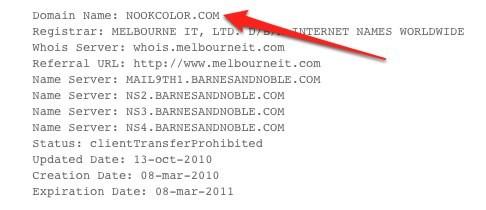 Barnes & Noble register NookColor.com for Android ereader?