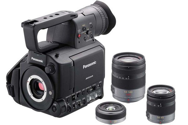 Panasonic AG-AF100 Micro Four Thirds HD camcorder dated & priced