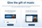 Pandora personalized radio unveils gift subscriptions