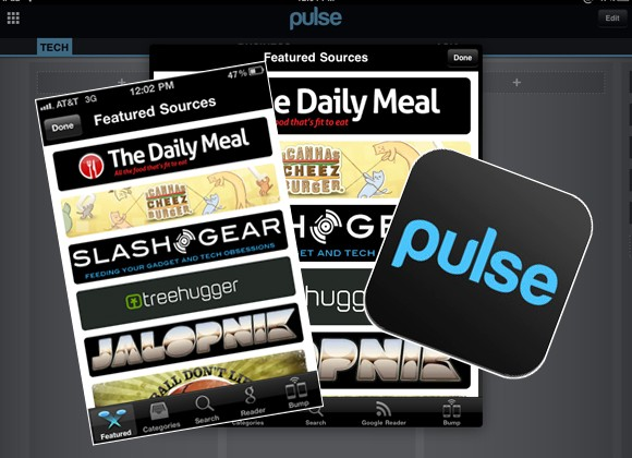 SlashGear in Featured Sources section of Pulse App