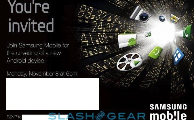 "Samsung announce Nov 8 event for ""new Android device"""