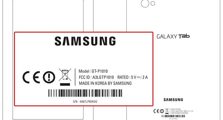 Samsung GT-P1010 WiFi-only Galaxy Tab clears FCC
