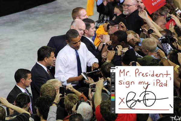 Sylvester Cann Captures President Barack Obama in an iPad
