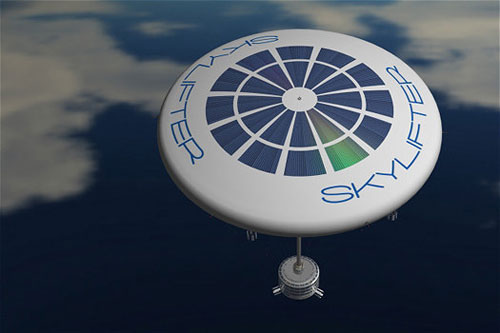 Skylifter balloon is designed to transport heavy equipment to remote areas