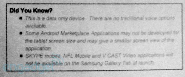 Samsung Galaxy Tab missing Verizon Skype app at launch