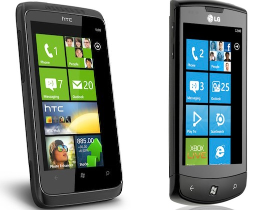 Vodafone LG Optimus 7 and HTC 7 Trophy priced