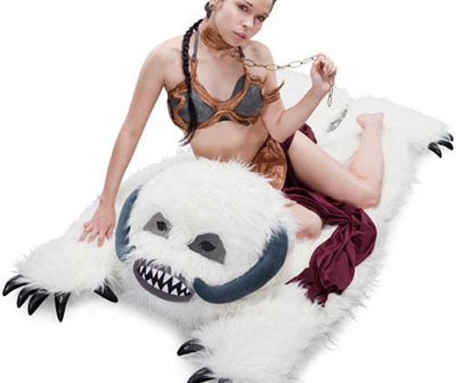 Star Wars Wampa Rug is perfect for in front of the fireplace