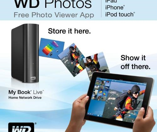 Western Digital offers up free iPhone/iPad app for remote viewing of stored photos