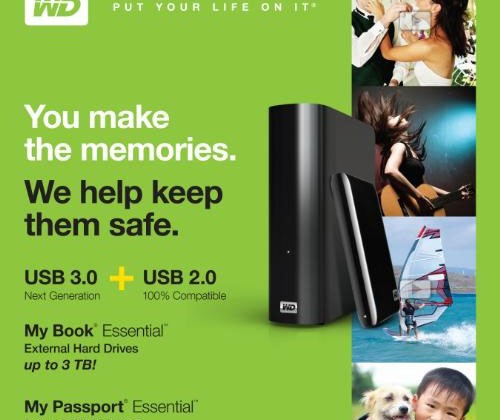 Western Digital MyBook Essential comes in up to 3TB with USB 3.0