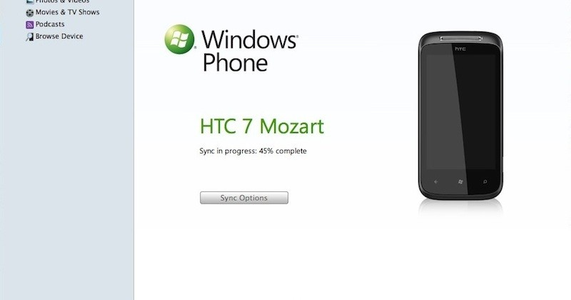 Windows Phone 7 Connector for Mac demo