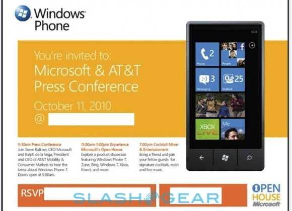 Windows Phone 7 launch on Monday October 11 – Join us there!