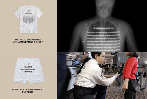 4th Amendment Wear for your TSA Protesting Family