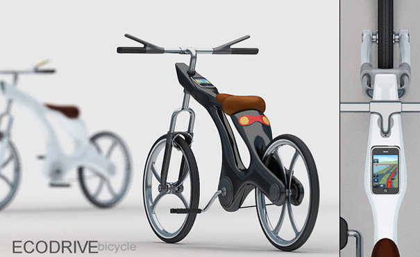 ECODRIVE Bicycle Features Integrated Turn Signals, iPhone Dock