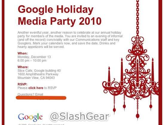 Google Sends out Holiday Media Party Invites to Publishers